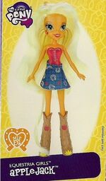 Applejack Equestria Girls doll pamphlet