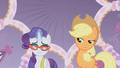 Applejack disapproves Rarity's fashion choice S1E14.png