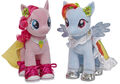 Build a Bear Workshop Pinkie Pie and Rainbow Dash in their special clothes.jpg