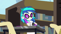 DJ Pon-3 mixing music in the library CYOE2c