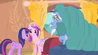 Discord covers himself with blanket S4E11