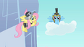 Fluttershy and Rainbow Dash in armor S2E11.png