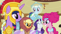 Main five excited about Fluttershy's idea S5E21