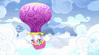 Main five flying in the Twinkling Balloon S8E18