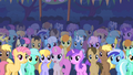 Ponies stare at the Cutie Mark Crusaders S01E18.png