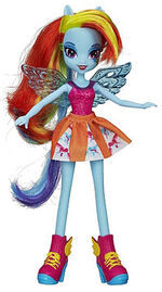 Rainbow Dash Equestria Girls pep rally doll