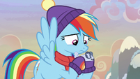 Rainbow Dash looking at winterchilla MLPBGE