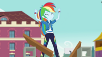 Rainbow Dash posing victoriously CYOE4b