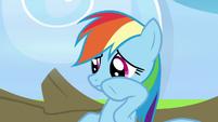 Rainbow Dash wiping away her drool S7E7