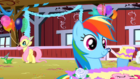 Rainbow Dash with some cake S01E25