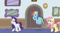 Rarity and Rainbow Dash dizzy and sore BGES3