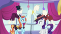 Rarity and Sassy surprised by door opening S5E15.png