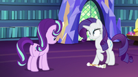 Rarity stomping on her dress drawing S6E21