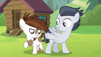 Rumble points at Pipsqueak's bare flank S7E21