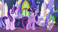 "Twilight Sparkle adding ""again"" S7E10"