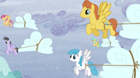 A group of Pegasi transporting clouds S5E5
