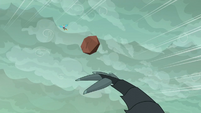 Another boulder flies at Spike and Ember S6E5