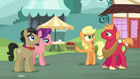 Applejack angrily cuts Big McIntosh off S6E23