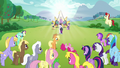 Applejack looks at a fainted Pinkie Pie S5E24.png