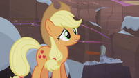 Applejack trying to get into the spirit S5E20