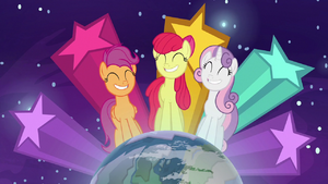 Cutie Mark Crusaders on top of the world S9E22
