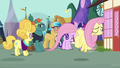 Fluttershy flies off in disappointment S7E14.png