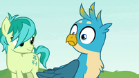 Gallus hears Ocellus growling off-screen S8E9