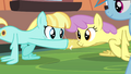 Helia and Parasol hoof-bump while doing wing-ups S4E24.png
