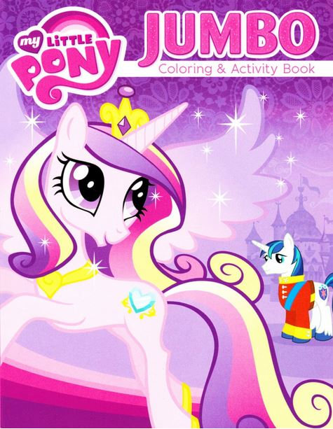 Image - My Little Pony Princess Cadance Jumbo coloring book cover ...