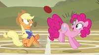 Pinkie Pie bumping the ball with her rump S6E18