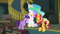Princess Twilight blushing with embarrassment EGFF