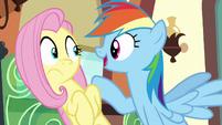 Rainbow --I bet Princess Celestia even comes-- S6E18