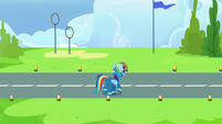 Rainbow Dash walks onto academy runway S7E23