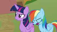 Rainbow asking for Lightning Dust's help S8E20