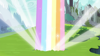 Rainbow shoots out of the ground S4E26