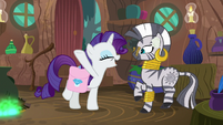 "Rarity ""your cure is working already!"" S8E11"