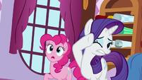 Rarity and Pinkie watches yaks destroy property S5E11