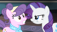Rarity looking angrily at Suri S4E08