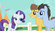 Rarity wins over stallions S1E26