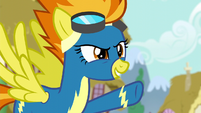 Spitfire pointing at Rainbow --flying-- S6E7