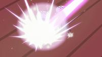 Transfiguration spell hits the salt shaker S7E2