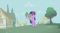 Twilight Sparkle Spike Shocked S1E9