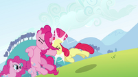 Apple Bloom pushes the Pinkie clone S3E03