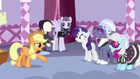 """Applejack """"to ponies like me, it's still black"""" S7E9"""