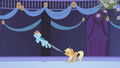 Applejack restrains Rainbow Dash S01E02.png