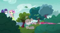 Crystal Guardian Pinkie Pie speeds off-screen EGDS11