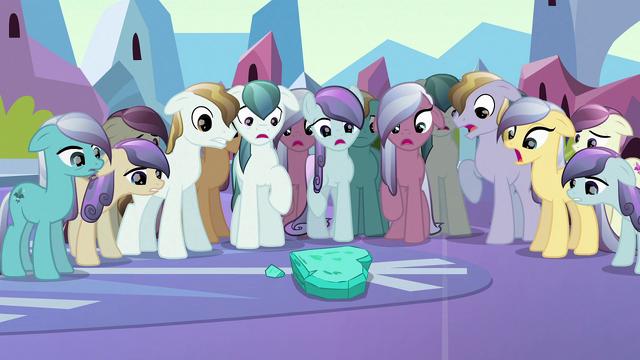 File:Depressed Crystal Ponies shocked S3E02.png