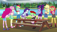 Equestria Girls collaborate on the new dock EG4