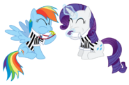FANMADE Rainbow Dash and Rarity as referees