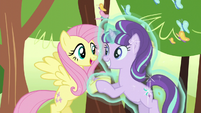 Fluttershy and Starlight happy S5E26